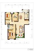 紫薇东进3室2厅1卫128平方米户型图