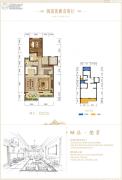 碧桂园保利云禧1室2厅1卫0平方米户型图