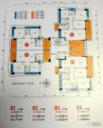 畔山四季公馆2室2厅1卫87平方米户型图