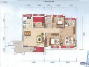 云星钱隆天誉3室2厅2卫111平方米户型图