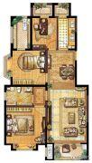 伊丽莎白・花漾3室2厅1卫0平方米户型图