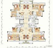 文华豪庭3室2厅2卫77--92平方米户型图