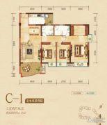 嘉州新城・滟澜洲3室2厅2卫115平方米户型图