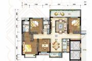 万科城4室2厅2卫139平方米户型图