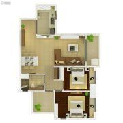 葛洲坝保利曼城3室2厅1卫87平方米户型图