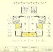 新澳城市花园2室2厅1卫70--80平方米户型图