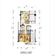 梅岭观海4室2厅4卫200平方米户型图