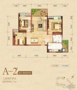 嘉州新城・滟澜洲3室2厅1卫77平方米户型图