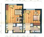凯旋银河线1室1厅1卫43平方米户型图