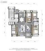 龙湖景粼玖序4室2厅3卫156平方米户型图