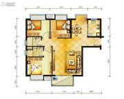 冠龙华府3室2厅2卫0平方米户型图