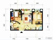 凯隆橙仕公馆1室1厅1卫48平方米户型图