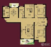 正诚阳光花墅3室2厅2卫138平方米户型图