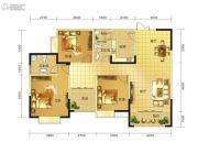 春天印象二期3室2厅2卫132平方米户型图