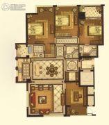 华中・江山邑4室2厅3卫190平方米户型图