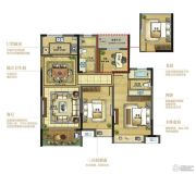 复地江城国际3室2厅2卫107平方米户型图