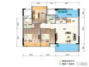 三角科尔玛城3室2厅2卫107平方米户型图