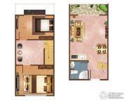 凯旋花园2室2厅2卫31平方米户型图