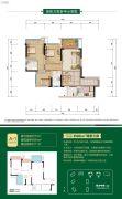 鲁能九龙花园3室2厅2卫75平方米户型图