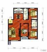 长春净月万科城3室2厅2卫135平方米户型图