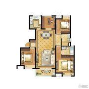 中海世纪公馆4室2厅2卫112平方米户型图
