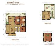 金昌启亚・白鹭金岸3室3厅2卫213平方米户型图