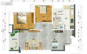 翡翠公馆2室2厅1卫80平方米户型图