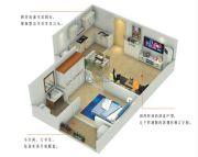 尚品爱琴海1室1厅1卫44平方米户型图