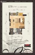 美泉16122室1厅1卫50--52平方米户型图