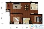 华远九都汇2室2厅1卫135平方米户型图