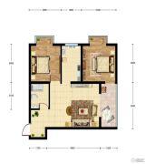 华建新城2室1厅1卫62平方米户型图