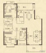 龙腾嘉园3室2厅2卫137平方米户型图