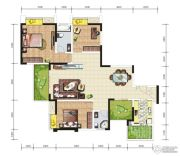 天成郦湖国际社区3室2厅2卫116--118平方米户型图