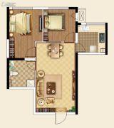 国际金融中心2室2厅1卫80平方米户型图