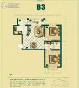 银泰逸翠园2室2厅1卫88平方米户型图