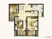 学府雅居2室2厅1卫113平方米户型图