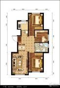 都市邻里3室2厅1卫107平方米户型图