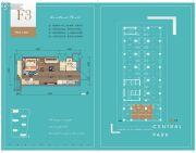 华润・中央公园1室1厅1卫45平方米户型图