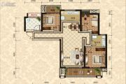 绵阳CBD万达广场3室2厅1卫116平方米户型图