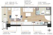 龙湖北城天街1室1厅0卫31平方米户型图