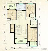 鑫界9号院3室2厅2卫125平方米户型图