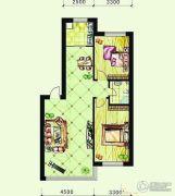 恩德花园2室2厅1卫96平方米户型图