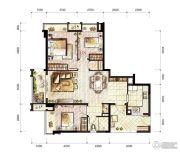 万科城3室2厅1卫81平方米户型图