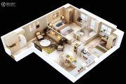 满堂悦MOMΛ2室2厅1卫80平方米户型图