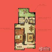 水静界1室2厅1卫85平方米户型图