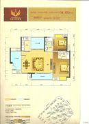 荣盛・南亚郦都2室2厅2卫102平方米户型图