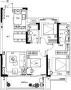 融侨观澜3室2厅2卫105平方米户型图