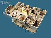 保利城4室2厅3卫174平方米户型图