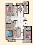 行宫・御东园3室2厅2卫181平方米户型图