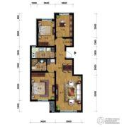 万科蓝山3室2厅1卫100平方米户型图